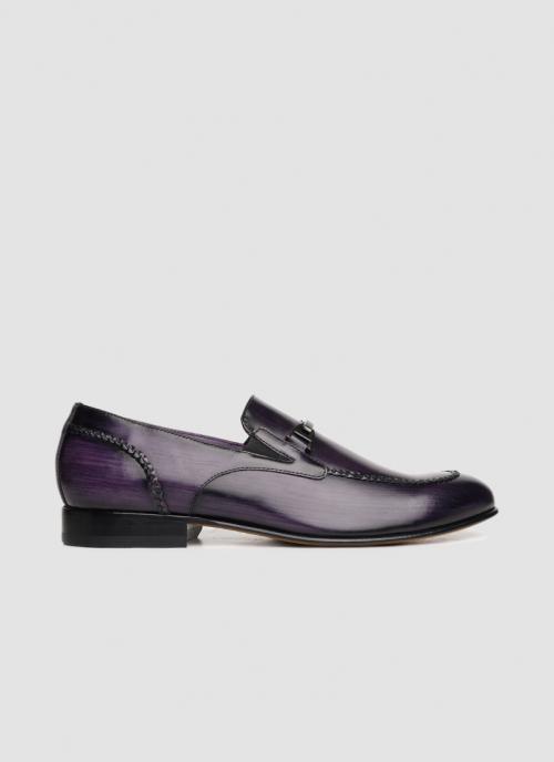 Language Shoes-Men-Era Loafer-Premium Leather-PURPLE Colour-Formal Shoe