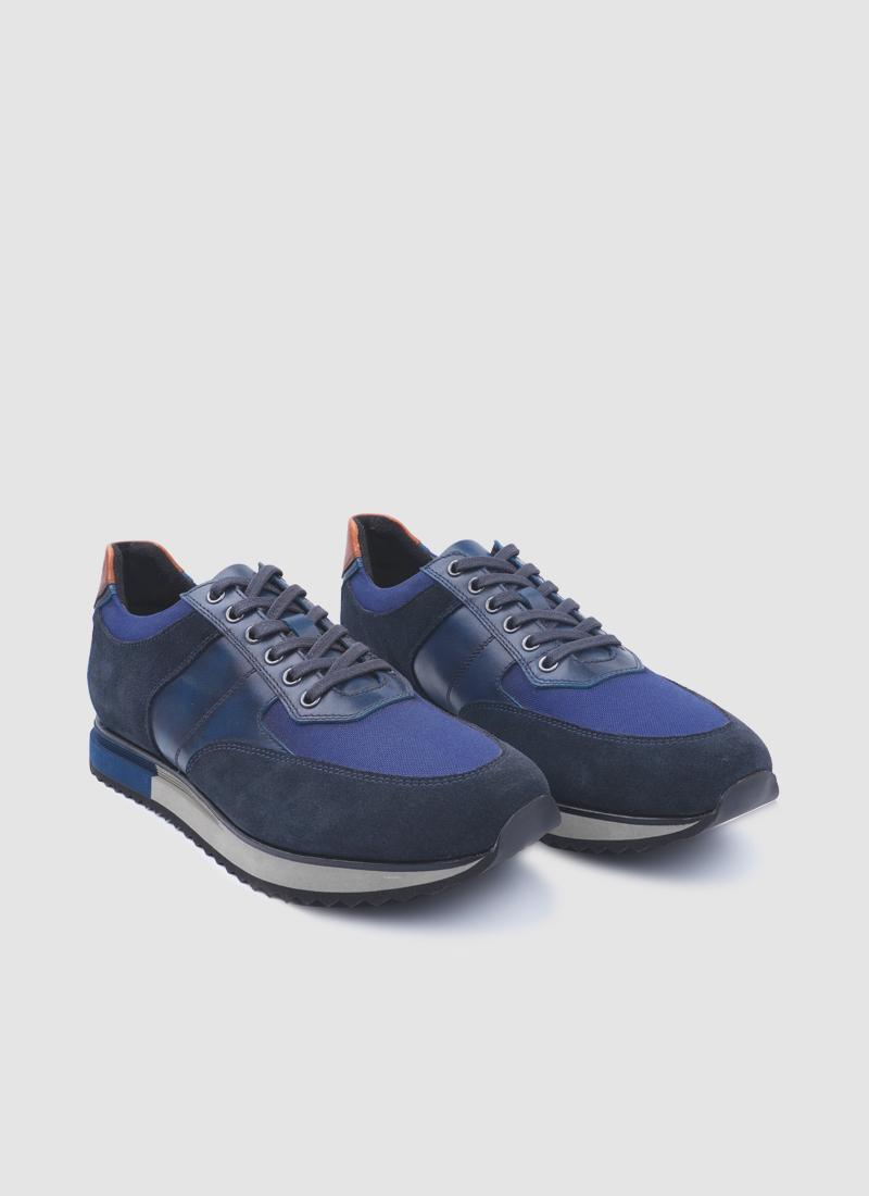 Language Shoes-Men-Hades Sneaker-Premium Leather-Navy Colour-Sneaker