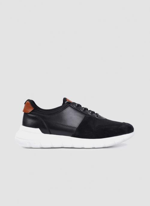 Language Shoes-Men-Zeus Sneaker-Premium Leather-Black Colour-Sneaker