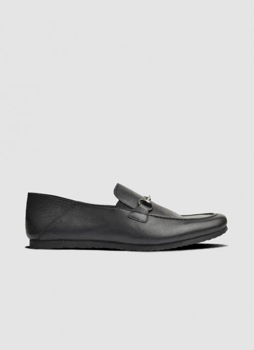 Language Shoes-Men-Trip Loafer-Premium Leather-Black Colour-Formal Shoe