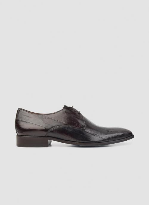 Language Shoes-Men-Caerus Derby-Eel Leather-Dark Brown Colour-Formal Shoe